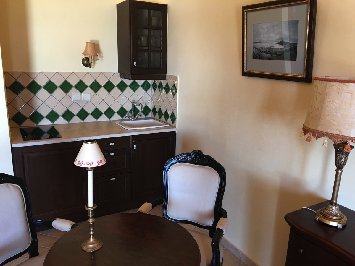 Kitchenette in the Dimitra suite